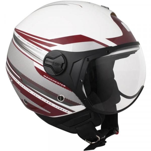 CGM 107X-FLA MANCHESTER jet helmete short visor White