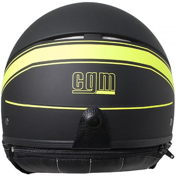 CGM 109S Shiny jet helmet Fluo Yellow Matt Black