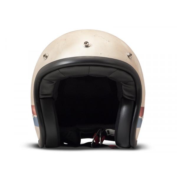 DMD Handmade Vintage Goldie jet helmet carbon Beige blue red