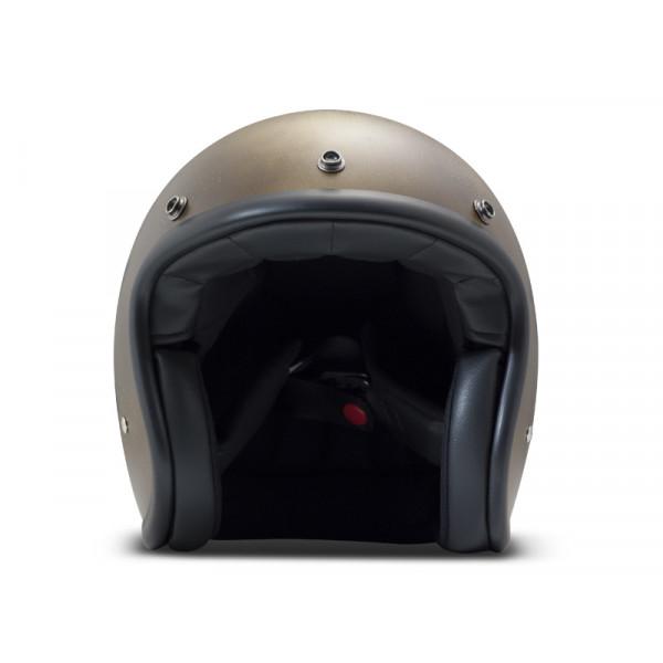 DMD Handmade Vintage Smile jet helmet carbon Dark Gold
