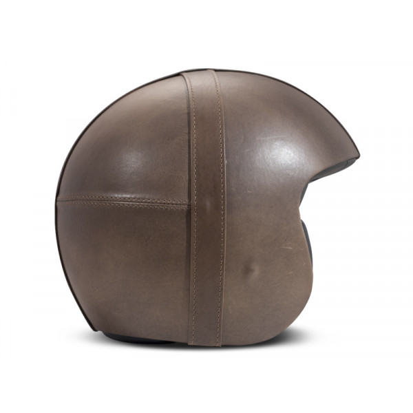 DMD Leather Vintage Bowl jet helmet Smoked carbon Grey
