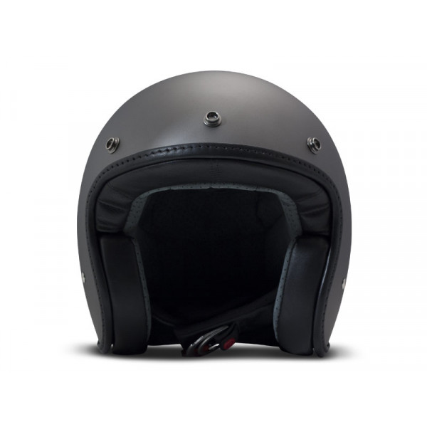 DMD Leather Vintage Pillow jet helmet carbon Matt Grey Black