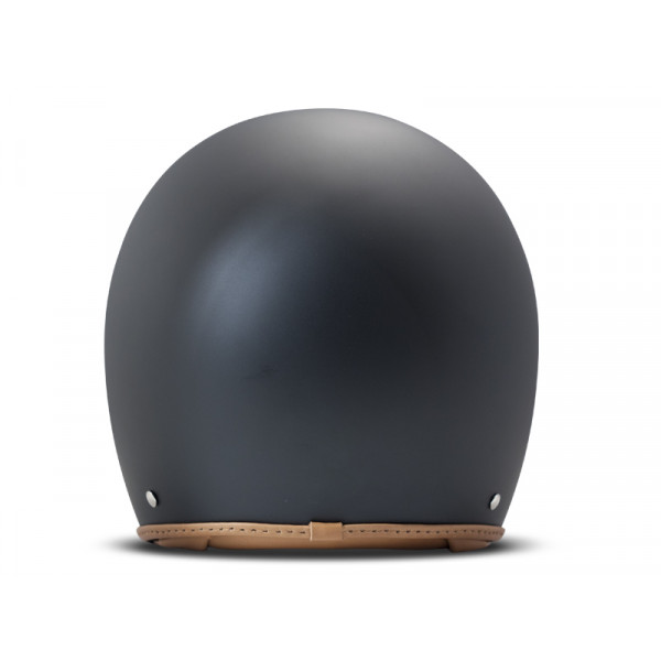 DMD Leather Vintage Pillow jet helmet carbon Matt Black Brown
