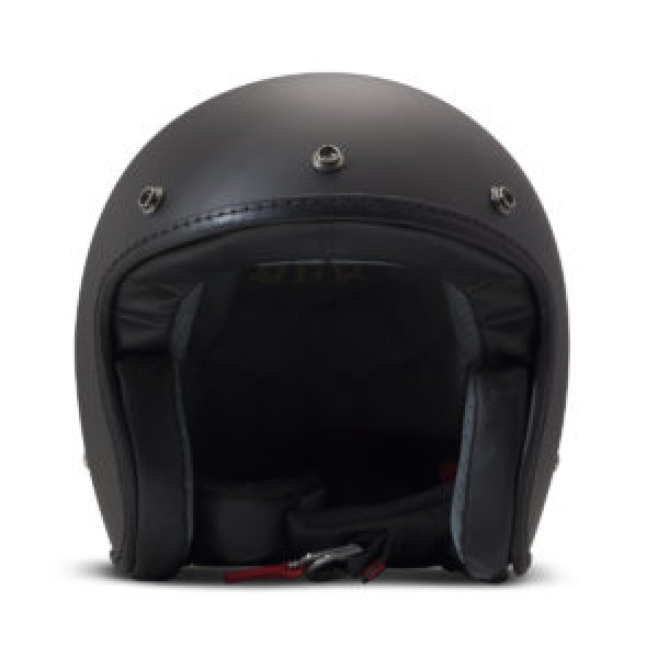 DMD Leather Vintage Pillow jet helmet carbon Matt Black Black