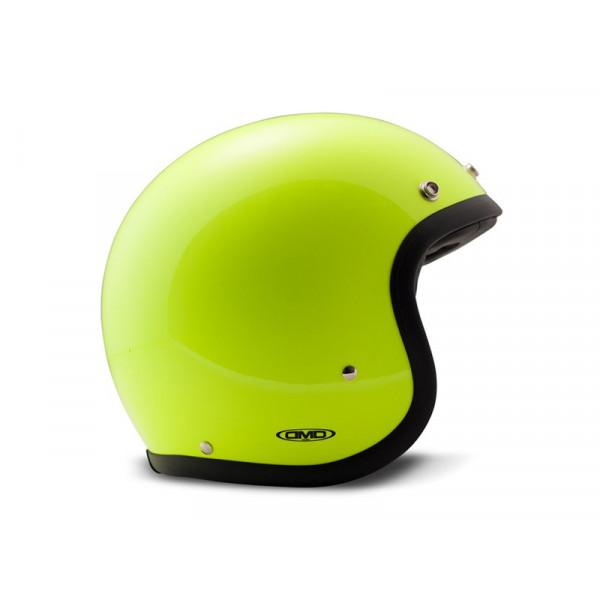 DMD Vintage fiber jet helmet fluo Yellow