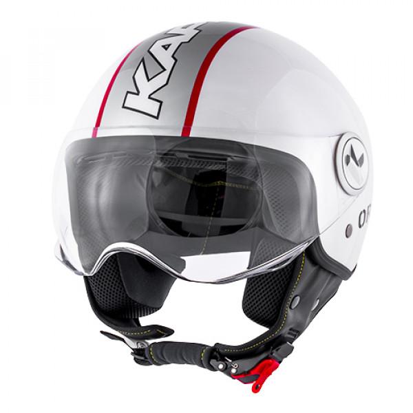 Kappa jet helmet KV20 Rio Slight Graphic gloss white red