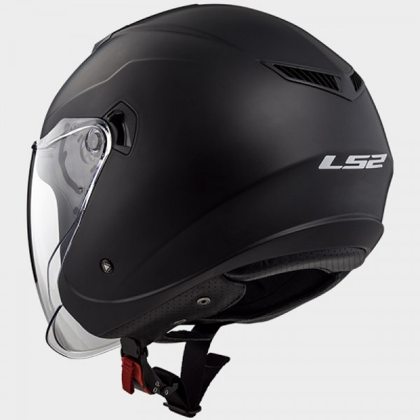 LS2 OF573 Twister jet helmet double visor mat black