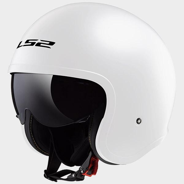 LS2 OF599 Spitfire jet helmet white