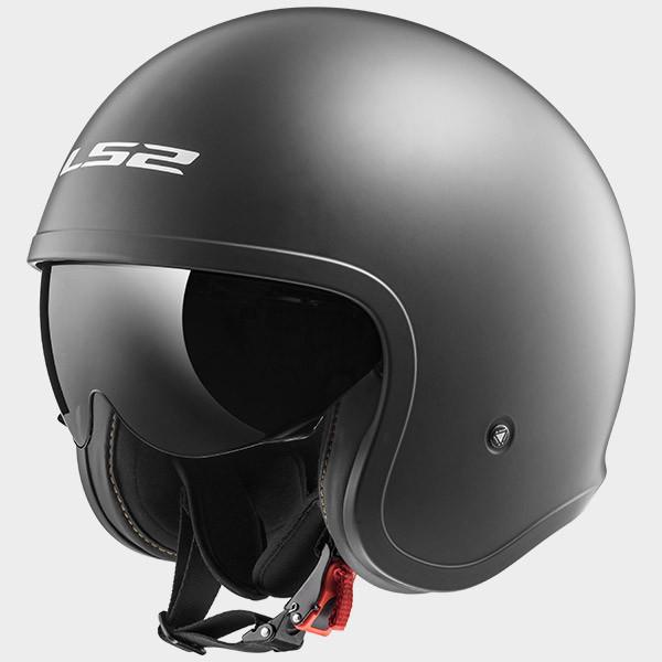 LS2 OF599 Spitfire jet helmet matt titanium