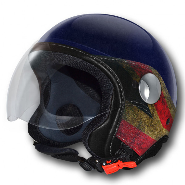 LS Trandy Vision UK jet helmet Blue