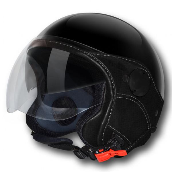 LS jet helmet Trendy Vision Double Visor black
