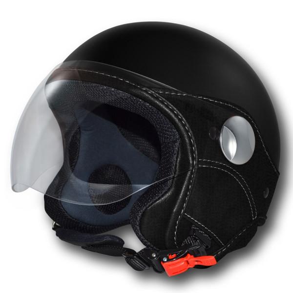 LS jet helmet Trendy Vision black