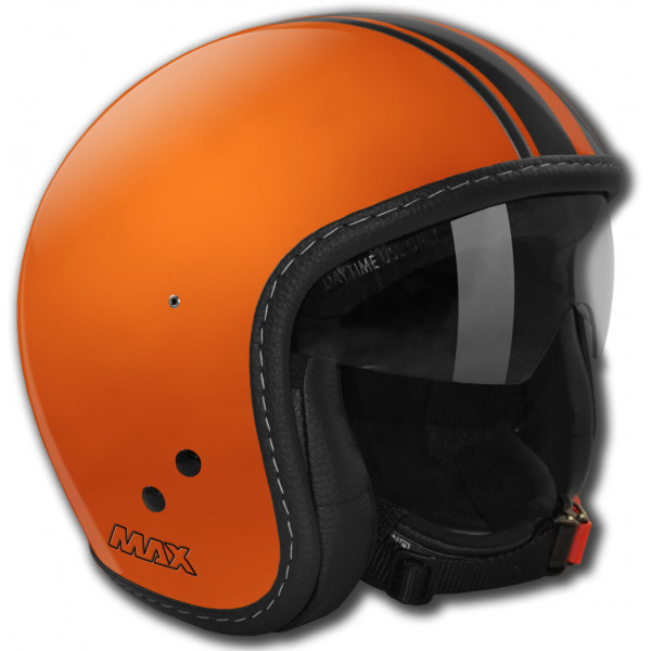 Max Knight jet helmet scratch orange