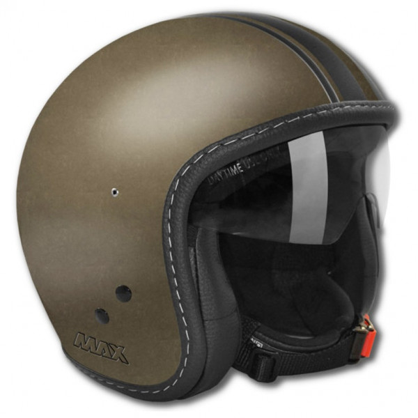 Casco jet Max Knight Bronzo scuro