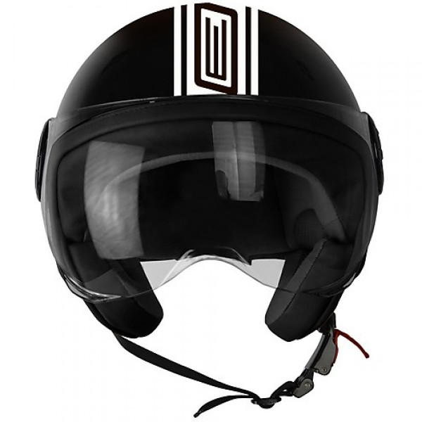 Origine jet helmet Neon Street black white