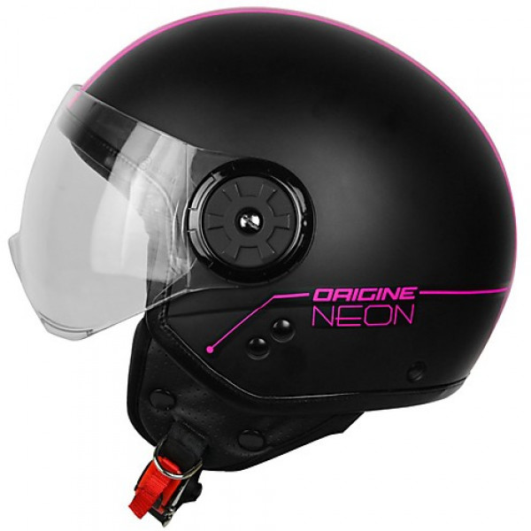 Origine jet helmet Neon Street  black fuchsia