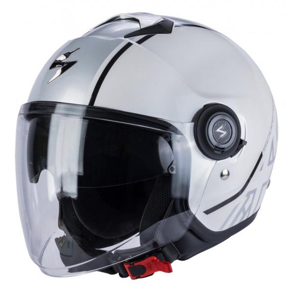 Scorpion EXO CITY AVENUE jet helmet White Silver