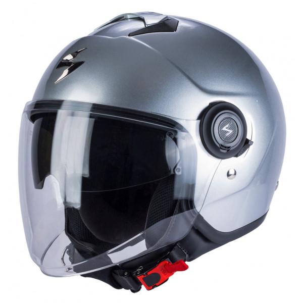 Scorpion EXO CITY jet helmet Silver
