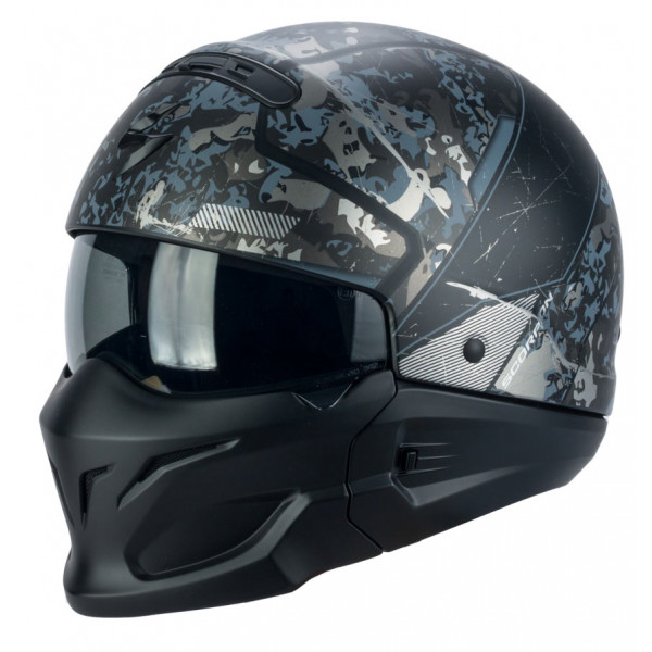 Scorpion EXO COMBAT OPEX jet helmet matt Black Silver