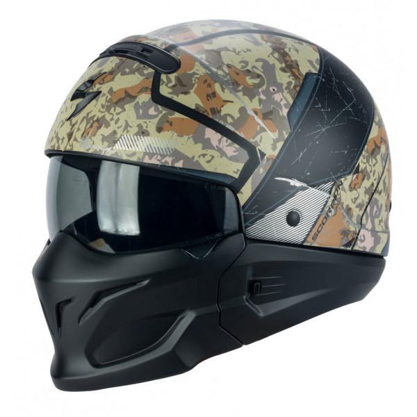 Scorpion EXO COMBAT OPEX jet helmet Sand Grey