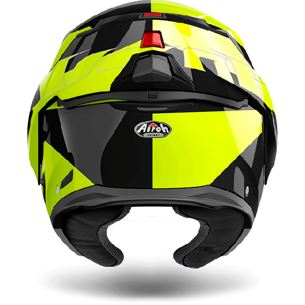Airoh Rev Antifog Visor  Fusion  flip up helmet yellow gloss