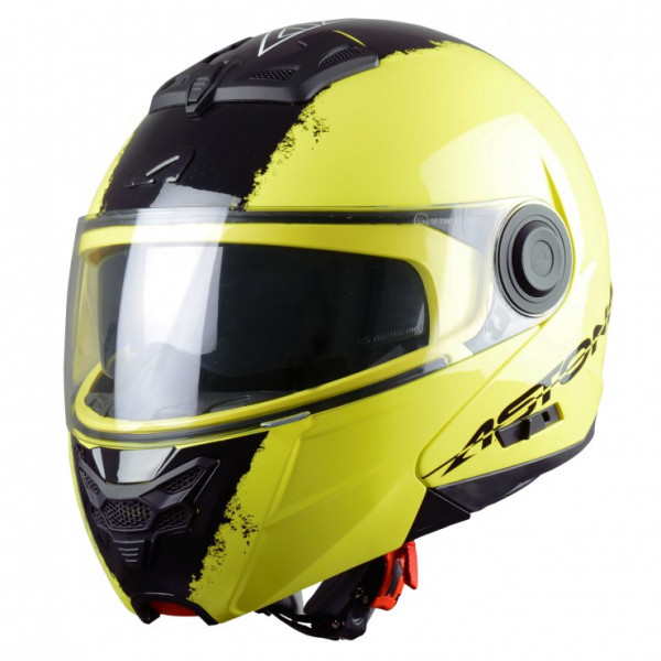 Astone Helmets RT800 Neon flip off helmet yellow