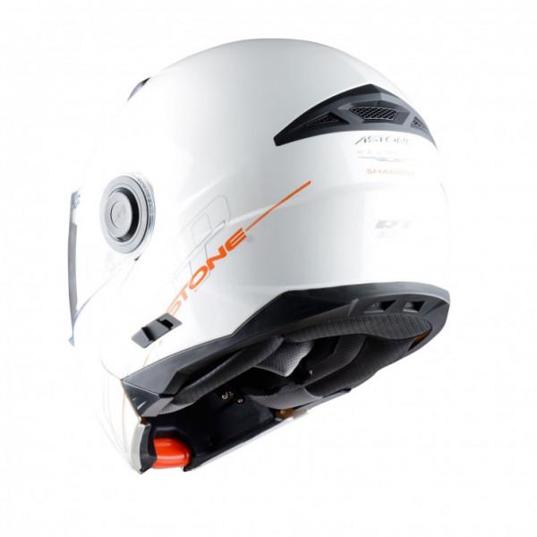 Astone Helmets RT800 Shadow flip off helmet gloss white