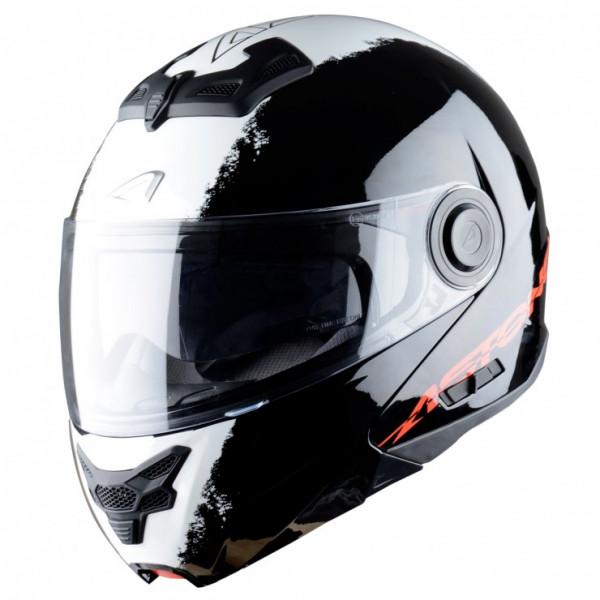 Astone Helmets RT800 Stripes flip off helmet black