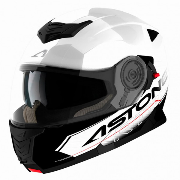 Astone Helmets RT 1200 Touring flip off Helmet White Black