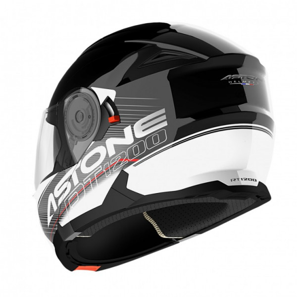 Astone Helmets RT 1200 Touring flip off Helmet Black White