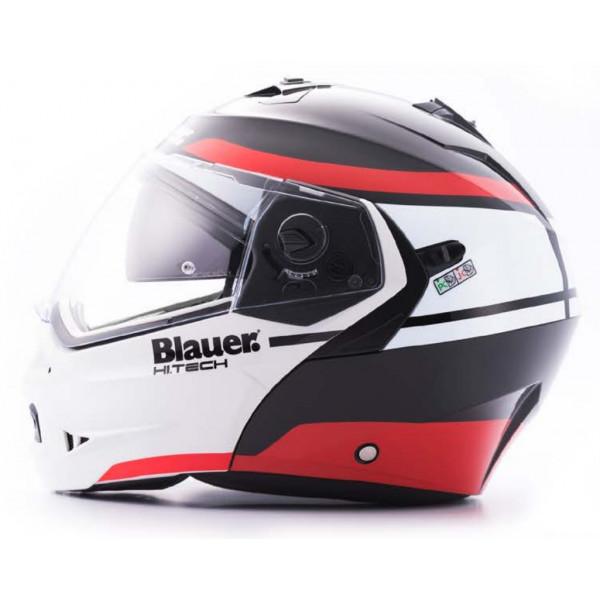 Blauer Sky II modular helmet Black White Matt Red