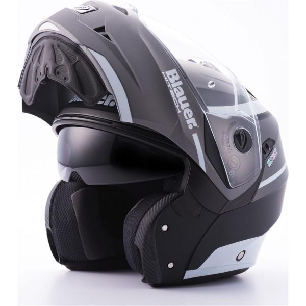 Blauer Sky II modular helmet Black Titanium Matt White