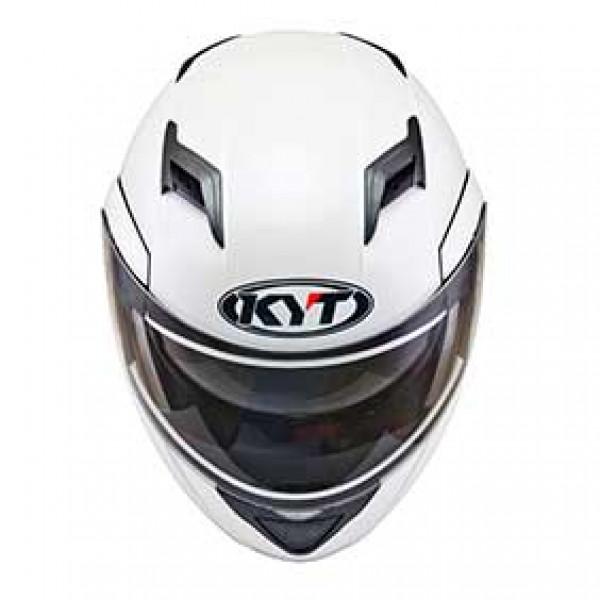 KYT modular helmet Convair Plain pearl white