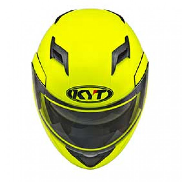 KYT modular helmet Convair Plain yellow fluo
