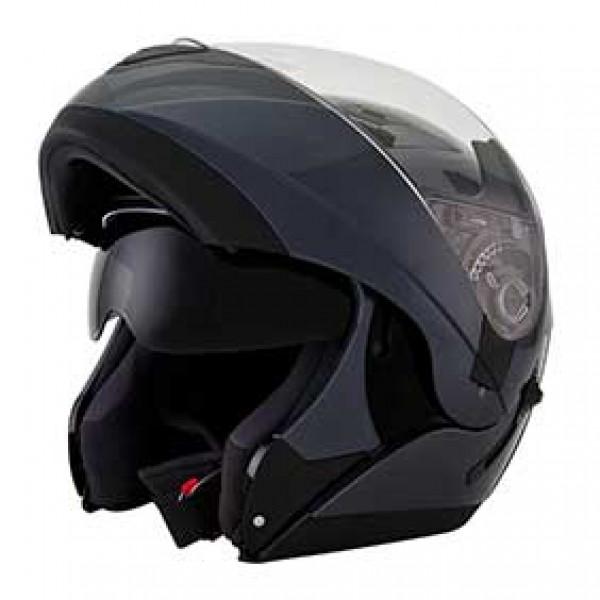 KYT modular helmet Convair Plain grey anthracite