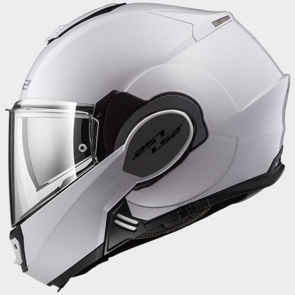 LS2 FF399 Valiant flip off helmet White