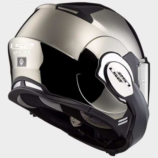 LS2 FF399 Valiant flip off helmet Chrome