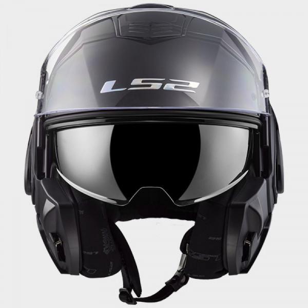 LS2 FF399 Valiant flip off helmet Black