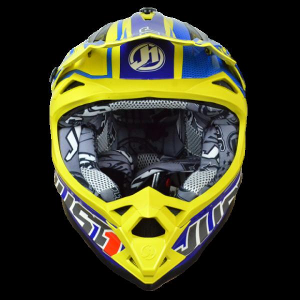 Just1 cross helmet J32 Rave blue yellow