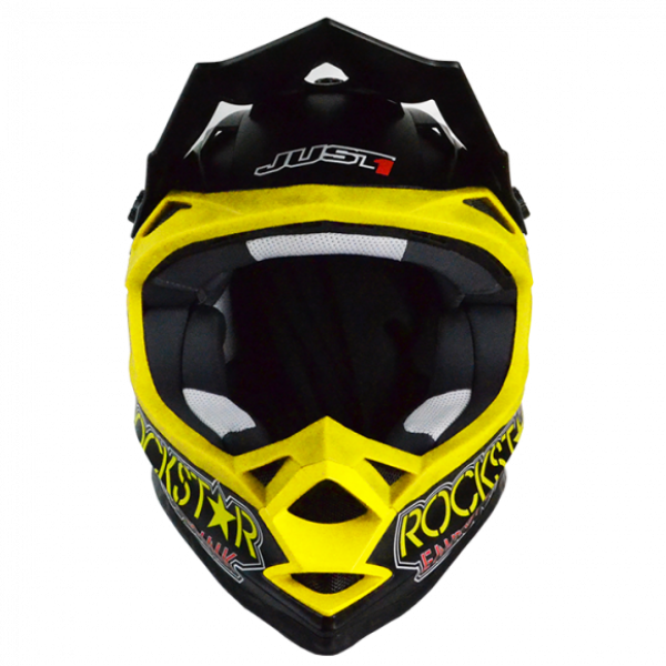 Just1 cross helmet J32 Rock Star Energy black yellow