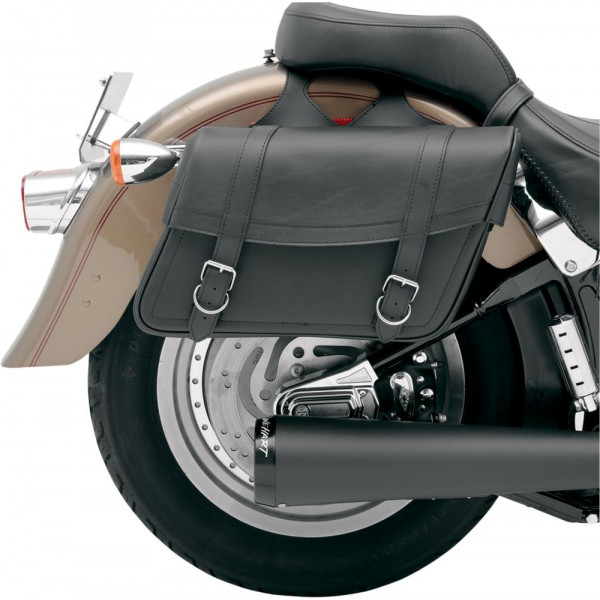 Coppia borse laterali pelle custom Saddlemen 35010092 Highwayman classic jumbo