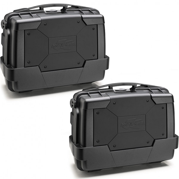 Kappa KGR33 Garda Black Line pair of side bags Black cover black