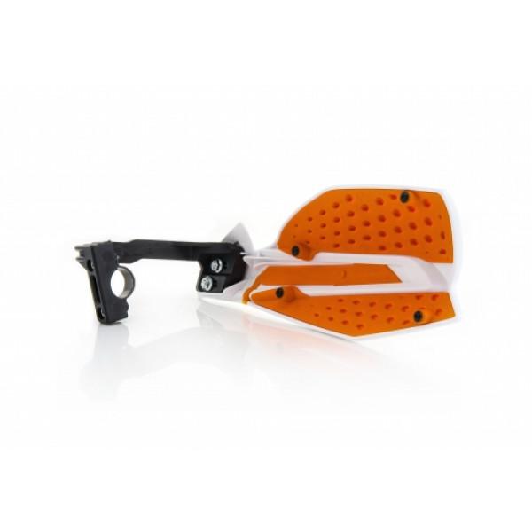 Acerbis pair of handguard cross X-Ultimate white orange