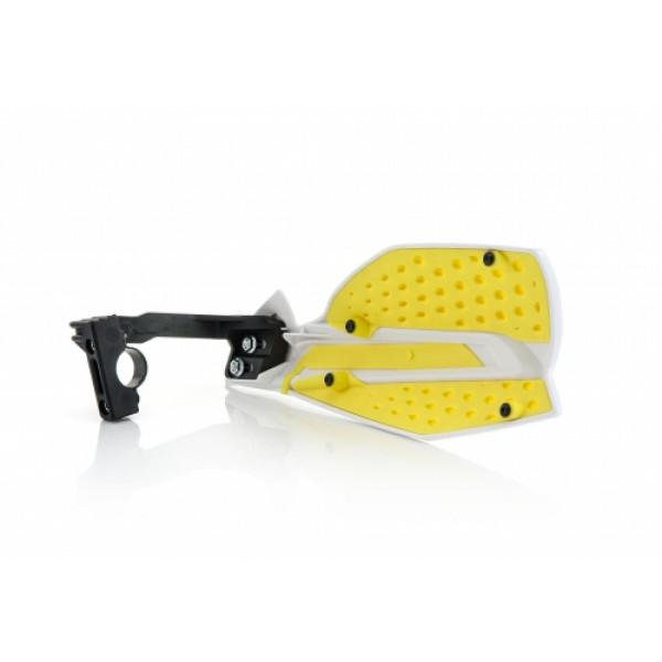 Acerbis pair of handguard cross X-Ultimate white yellow