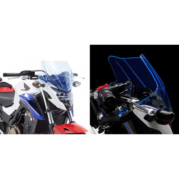 Givi A1152BL Ice screen for Honda CB500F 16 Fluo Blue