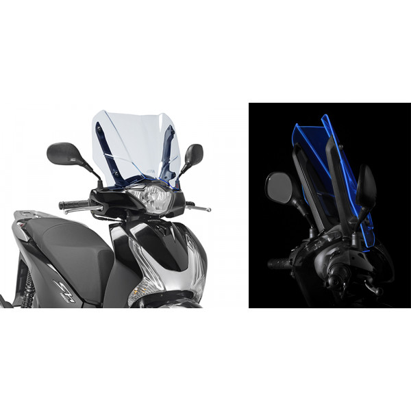 Givi D1128BL Ice screen for Honda SH125-150 Fluo Blue