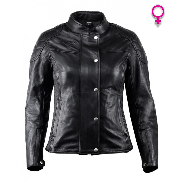 Giacca moto donna pelle custom Vand Andromeda Lady Nero