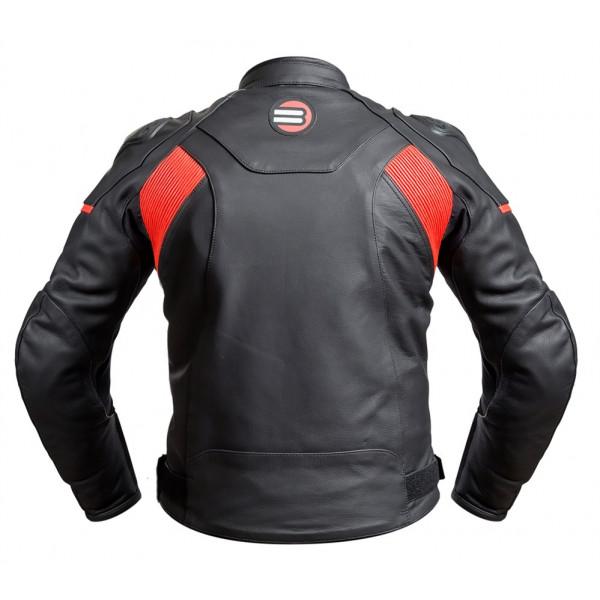 Giacca moto pelle racing Befast FastRide Nero Arancio