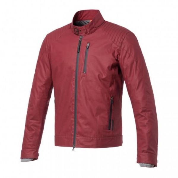 Tucano Urbano Pol short jacket in waxed cotton biking red