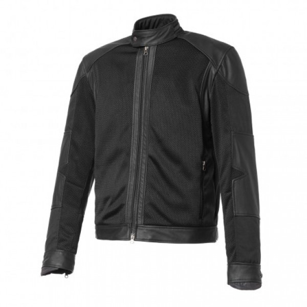 Tucano Urbano Selvaggio mesh jacket leather inserts black